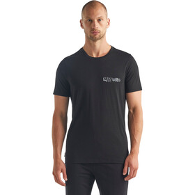 Icebreaker Tech Lite SS Crew Shirt Nature Men, black